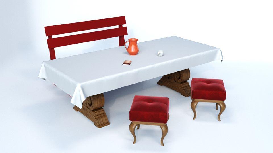 стіл в 3DMax